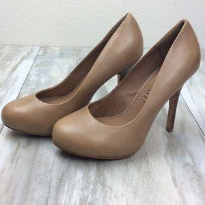 Aldo Nude Leather Heels 7